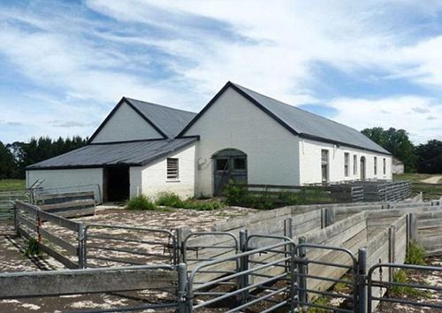 Khu nuôi gia súc trong trang trại.