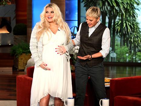 Jessica tăng gần 20 kg khi mang bầu.