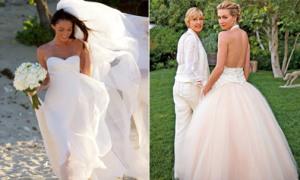 10 chiếc váy cưới tuyệt đẹp của sao