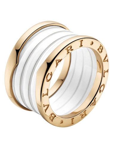 Nhẫn B,Zero 1 làm từ vàng, Ceramic.