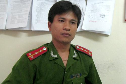 Đại úy Chu Phương Anh. Ảnh: Việt Dũng.