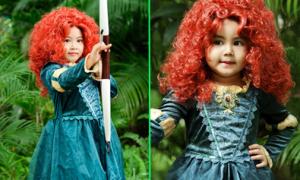 Con gái Quyền Linh hóa 'công chúa tóc xù'