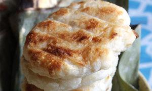 Dân dã bánh củ sắn nướng thơm ngát
