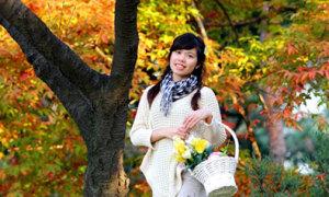 Những bộ ảnh đẹp về thiếu nữ và mùa thu Hàn Quốc