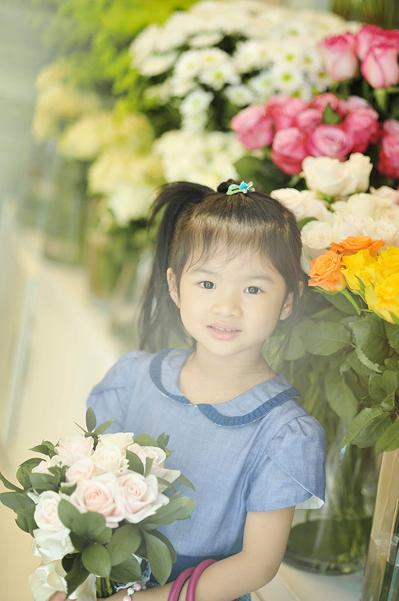 Bảo Tiên đang theo học tại trường quốc tế