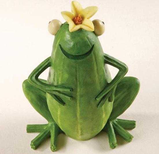 Chú ếch có thân bằng quả bí.