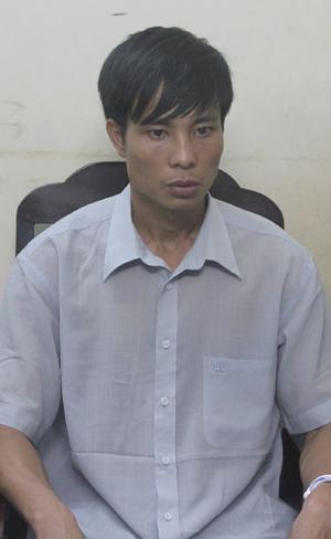 Lê Diên Hải tại trụ sở công an. Ảnh: Việt Dũng.