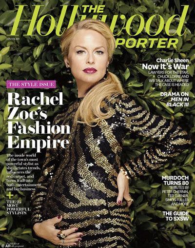 Rachel Zoe trên bìa tạp chí Report