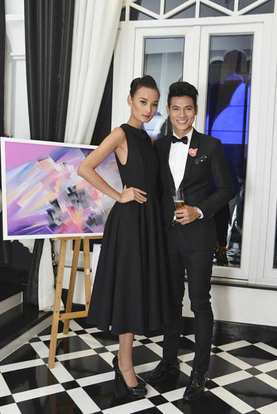 Người mẫu Lê Thúy và Mister Vietnam Lê Khôi Nguyên.