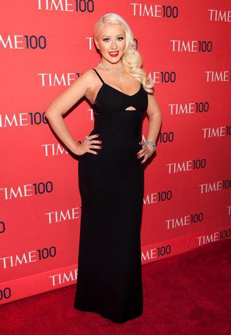 Christina trên thảm đỏ cuối tháng 4 vừa qua.