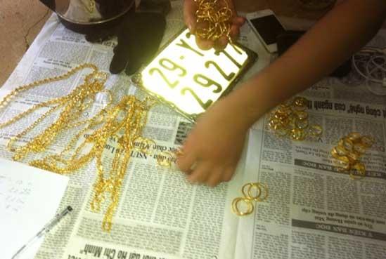Số vàng An cướp được tại tiệm vàng Hạnh Thúy.