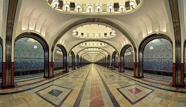 Nhà ga Mayakovskaya được coi là một trong những nhà ga đẹp nhất trong hệ thống ga ở Matxcơva