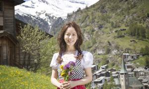 Han Ji Min khoe sắc ở Thụy Sĩ