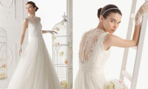 Váy cưới xếp ly đẹp mắt của Aire Barcelona 2014