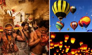 Không gian đầy màu sắc của các lễ hội trên thế giới