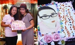 Lưu Hương Giang được fan tặng bánh kem độc đáo