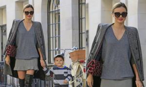 Miranda Kerr dạo phố như trình diễn thời trang