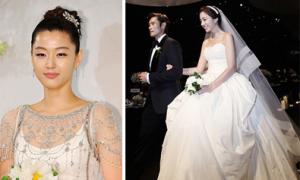 Những bộ váy cưới xấu của sao Hàn