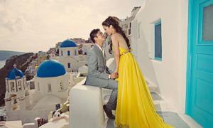 Chụp ảnh cưới nổi bật trên đảo Santorini