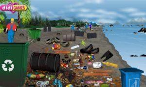 Thu rác ở bãi biển