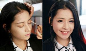 Chi Pu trẻ trung với kiểu make up màu cam