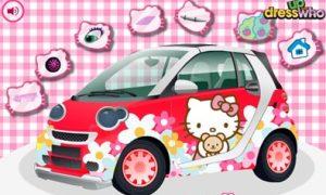 Trang trí xe Hello Kitty