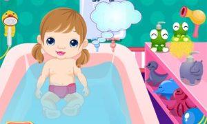 Tắm cho bé yêu