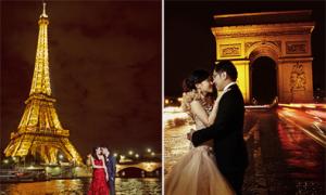 Chụp ảnh cưới lãng mạn ở Paris hoa lệ