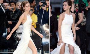 Emma Watson giữ váy vì sợ 'lộ hàng'
