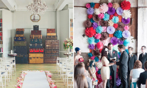 Backdrop cá tính cho hôn lễ trong nhà