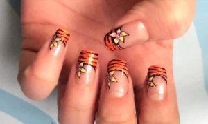 Khác lạ với nail hoa và họa tiết da hổ