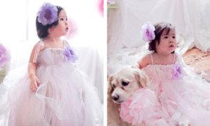 Váy voan, ren đáng yêu cho phù dâu nhí
