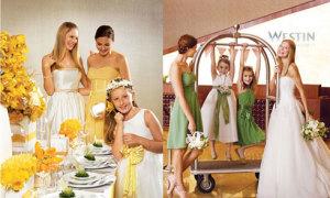 Cô dâu rạng rỡ bên phù dâu xinh xắn