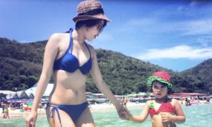 Hot girl Mi Vân hài lòng với cuộc sống mẹ đơn thân