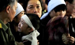 Lễ tang đẫm nước mắt của các chiến sĩ tử nạn Mi 171