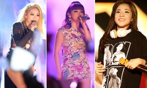 2NE1 cháy hết mình trên sân khấu TP HCM