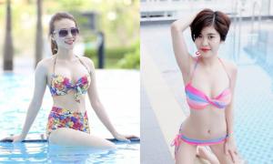 Các cô gái Miss Ngôi Sao khoe dáng ở bể bơi