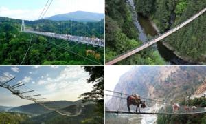 Những cây cầu treo khiến du khách đứng tim