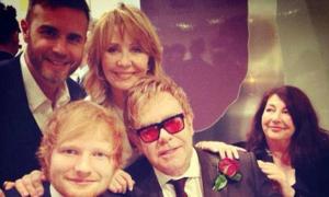 Các sao tới dự đám cưới của Elton John