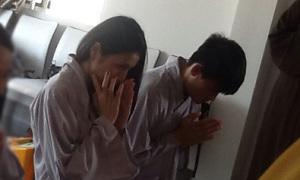 Thủy Tiên khóc khi làm lễ trước đám cưới