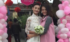 Cô dâu Lê Thúy duyên dáng với style cổ điển, giản dị