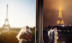 Ảnh cưới đẹp lung linh trong mùa thu Paris