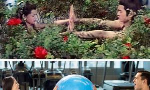 Nhược Đồng, Cổ Thiên Lạc diễn lại cảnh hot trong 'Thần điêu'
