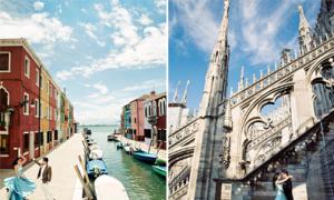 Ảnh cưới phong cách lộng lẫy ở Venice và Milan