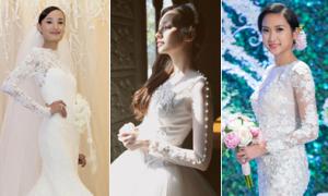 Váy cưới tay dài tuyệt đẹp của sao Việt