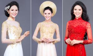 3 màu áo dài cách tân được cô dâu yêu thích