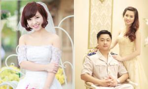 Trang phục cô dâu khi chú rể mặc đồng phục ngành