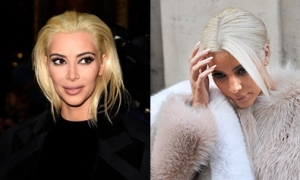 Cô Kim 'hồi sinh' mốt tóc vàng bạch kim