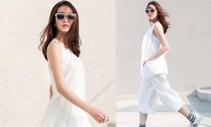 Khánh My gợi ý mặc white on white sành điệu