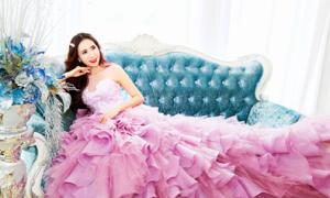 Á khôi Lê Ngọc Thanh lộng lẫy với váy cưới 3D